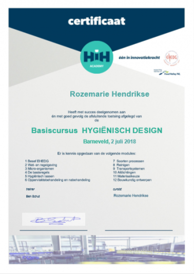 Certificaat HIH